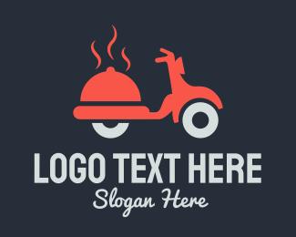 Motorbike - Food Delivery logo design