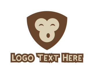 Day Care - Monkey Shield  logo design