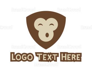 Monkey - Monkey Shield  logo design