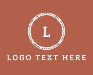 White And Pink - Pink Script Vintage Letter logo design