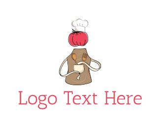 Ketchup - Chef Tomato logo design