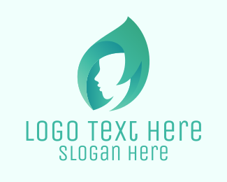 Mint Hair Beauty Salon logo design