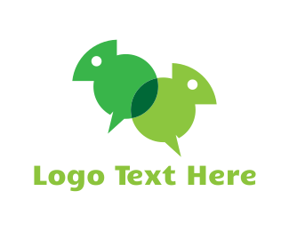 Language - Chameleon Chat logo design