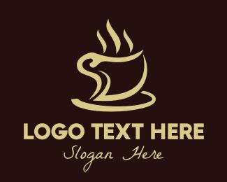 Cafeteria - Golden Coffee logo design