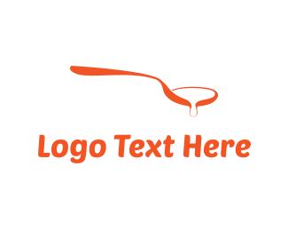 Soup - Orange Spoon logo design