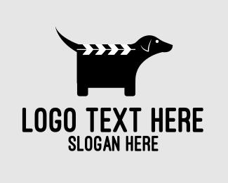 Tv - Dog Clapperboard  logo design