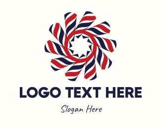 Red Star - Barber Swirl logo design