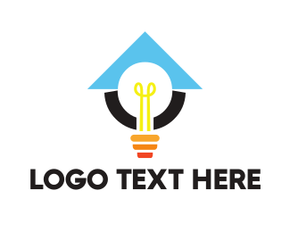 Lamp - Light Bulb Lamp logo design