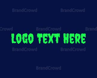 Toxic - Neon & Dripping logo design