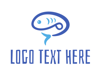 Poke - Blue Fish logo design