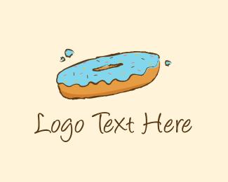 Donut - Blue Donut logo design