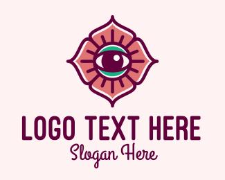 Optic - Spiritual Flower Eye logo design