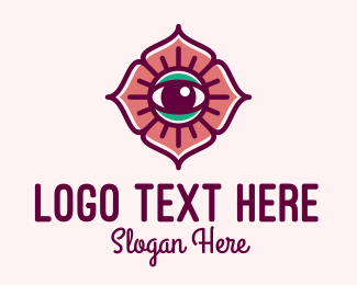 Eyelash - Spiritual Flower Eye logo design