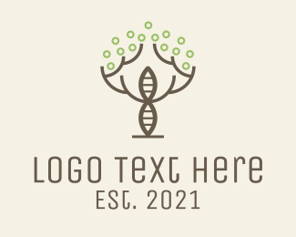 Organism - Minimalist Tree DNA logo design