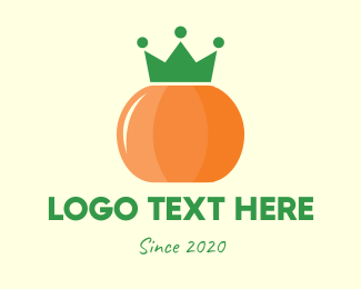 Pumpkin - Royal Pumpkin Crown logo design