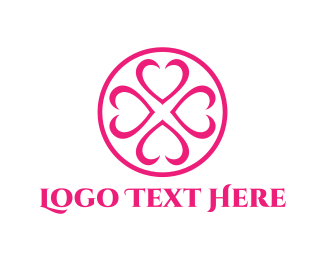 Small Business - Pink Hearts logo design