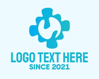 Heal - Blue Cross Healing logo design