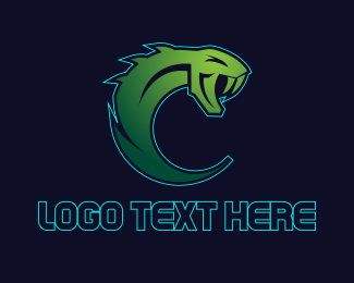 Venom - Green Python Gaming logo design