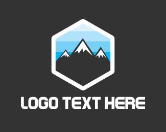 Winter - Snow Peaks logo design