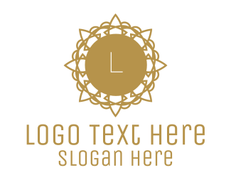 Gold Star - Golden Floral Lettermark logo design