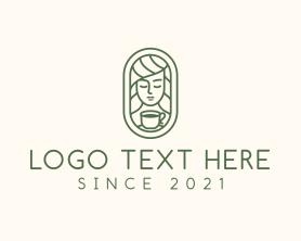 Maiden - Green Woman Nature Cafe logo design