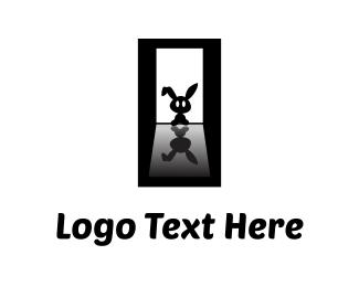 Shadow - Black Bunny logo design