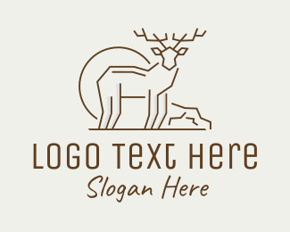 Animal - Deer Animal logo design