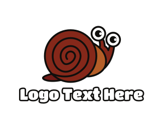 Mollusk - Brown Shell Snail logo design
