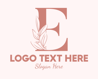 Aesthetics - Elegant Leaves Letter E logo design