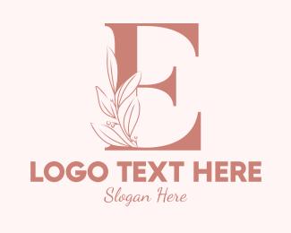 Leaf - Elegant Leaves Letter E logo design