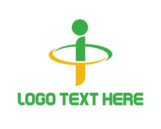 Geography - Green Yellow Ring I logo design