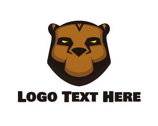 Brown Bear - Tribal Bear logo design