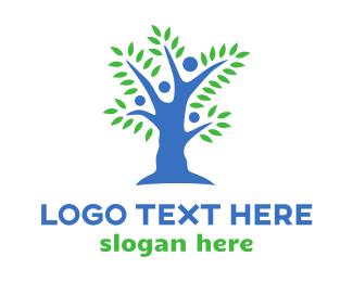 Organization - Blue People Tree logo design