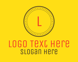 Simplistic - Minimalist Circle Letter logo design