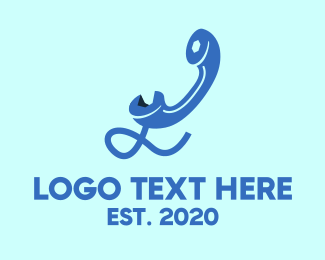 Chord - Blue Telephone logo design