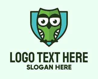 Secure - Owl Shield Security logo design