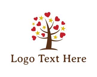 Christmas - Loving Tree logo design