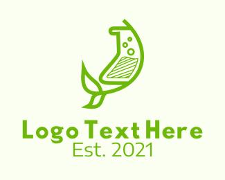 Organic Medicine - Green Herbal Medicine  logo design