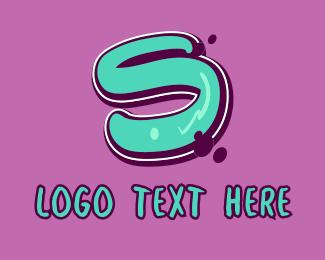 Street Artist - Modern Graffiti Letter S logo design