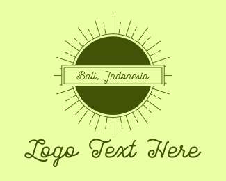 Retreat - Bali Indonesia logo design