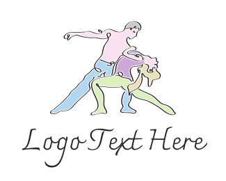Ballet - Dance Couple logo design