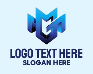 Safeguard - M Shield logo design