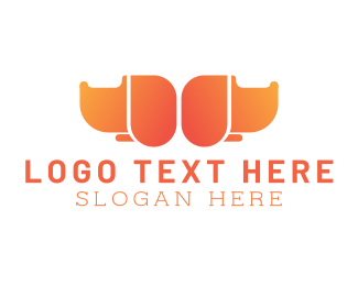 Orange Dog - Twin Orange Dogs logo design