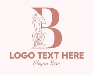 Aesthetics - Elegant Leaves Letter B logo design