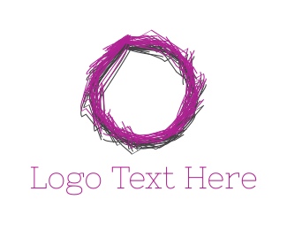 Wreath - Sketch Circle logo design