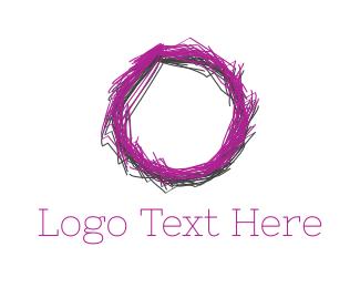 Purple Circle - Sketch Circle logo design