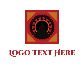 Decoration - Red & Black Mandala  logo design