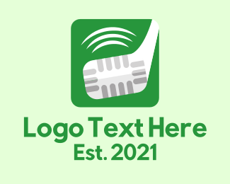Podcast - Golf Podcast App logo design