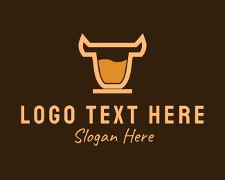 Tasty -  Bull Coffee Drink logo design