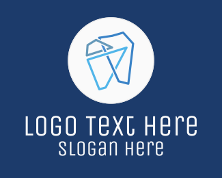 Blue Tooth - Modern Geometric Tooth logo design